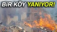 Kastamonu'da köyde 8 ev yanıyor