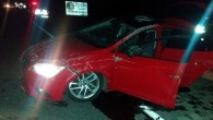 Otomobil takla attı: anne ve bebeği yaralandı