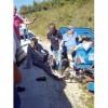 Patpat aracı devrildi: 3 yaralı