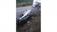Yoldan çıkan otomobil şarampolde takla attı: 4 yaralı
