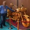 Makine mühendisinin hobisi, ahşap motosiklete dönüştü
