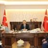 PTT Müdüründen Kaymakam Deniz Pişkin'e Ziyaret
