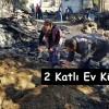 Suluca Köyünde Yangın; 2 Katlı Ev, Samanlık Kül Oldu