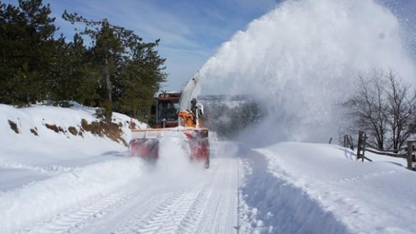 Ilgaz Dağı Milli Parkı'nda kar kalınlığı 70 santimetreyi geçti