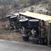 Kastamonu'da hafriyat kamyonu devrildi: 1 yaralı