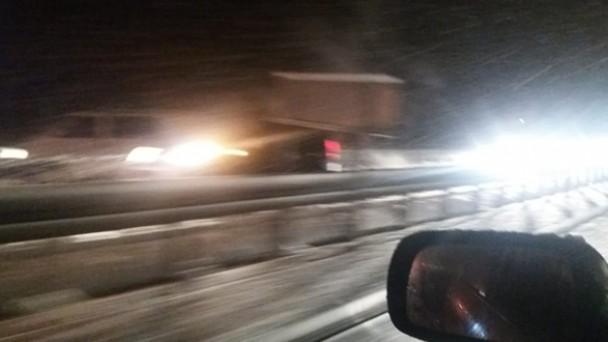 D-100 Karayolu'nda Ulaşıma Kar Engeli