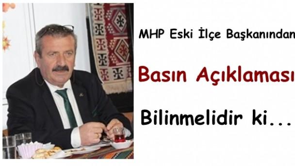MHP Eski Başkanı Muvaffak Etyemez'den Basın Açıklaması