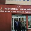 Murat Demir, Cide Rıfat Ilgaz Meslek Yüksekokulu'nu ziyaret etti
