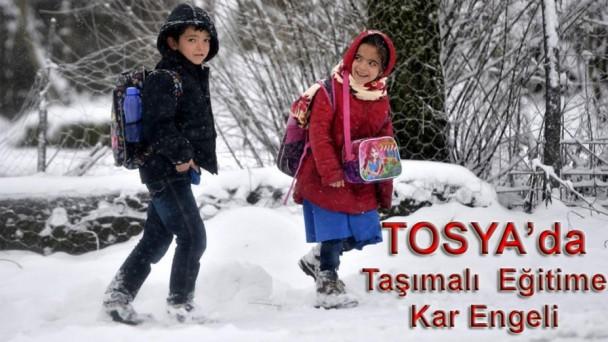 Tosya'da Eğitime Kar Engeli