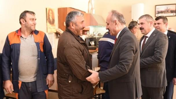 Belediye Başkanı Tahsin Babaş, Karayolları 15. Bölge Müdürlüğü'nü ziyaret etti