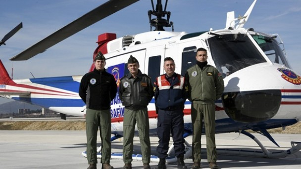 D-100 Karayolunda Helikopterli Trafik Denetimi