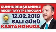 Erdoğan Kastamonu'ya Geliyor