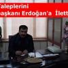 Tosya Marangozlar Odası Esnafın Taleplerini Cumhurbaşkanı Erdoğan'a İletti