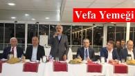 Belediye Başkanı Kazım Şahin'e Vefa Yemeği