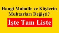 Tosya Mahalle ve Köy Muhtarları Listesi