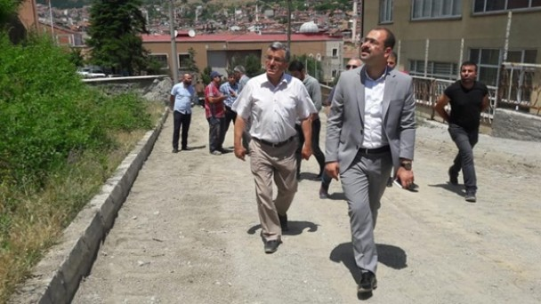 Cumhuriyet Anadolu Lisesi Çevresi Parke Çalışması
