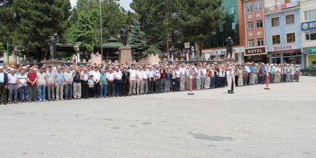 Mursi için Tosya'da Gıyabi Cenaze Namazı