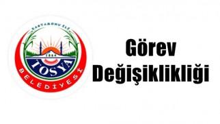 Tosya Belediyesinde Görev Değişiklikleri Yapıldı