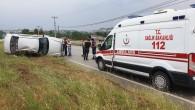 Tosya Sanayi Kavşağında Otomobil Takla Attı