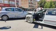 Metal Sanayi Girişinde Kaza Ucuz Atlatıldı