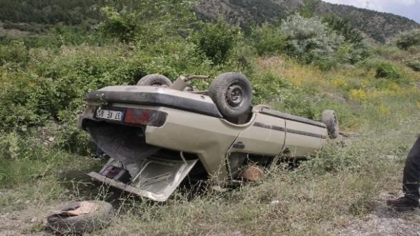 Tosya'da otomobil takla attı: 5 yaralı