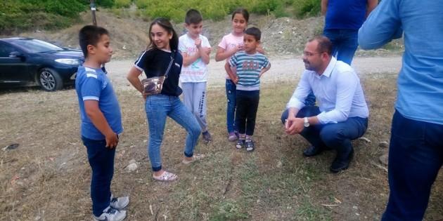 Başkan Kavaklıgil, çocukları sevindirdi
