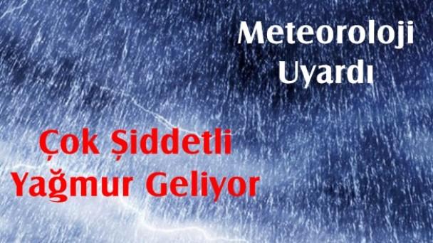 Dikkat! Meteoroloji Uyardı, Çok Şiddetli Yağmur Var