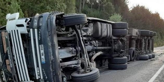 Kastamonu Yolunda tır kazası, 1 yaralı