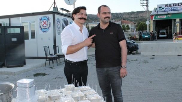 Tosya Belediyesinden sürücülere pilav ikramı