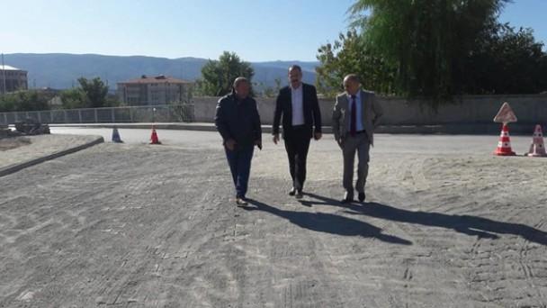 Tosya Belediyesinden yüksekokul çevresinde yenileme çalışmaları