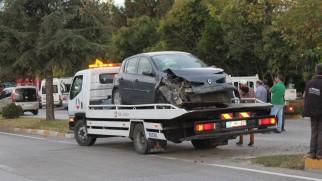 Şehiriçinde kaza ucuz atlatıldı