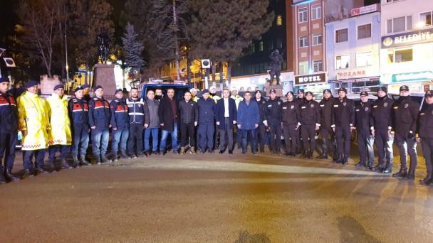 Tosya'da Yılbaşı Akşamı Emniyetten Yoğun Güvenlik Önlemi