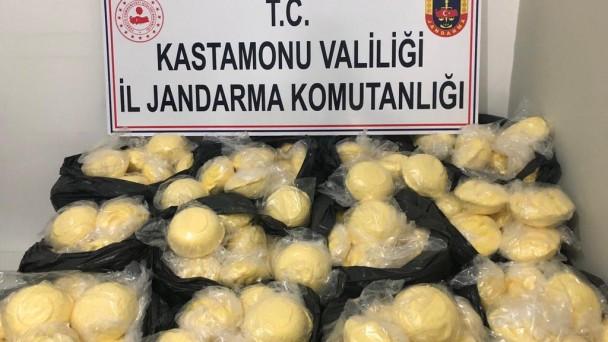 Jandarma Tosya'da 200 kg bitkisel margarin yakaladı