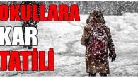 Tosya'da okullar 1 gün tatil