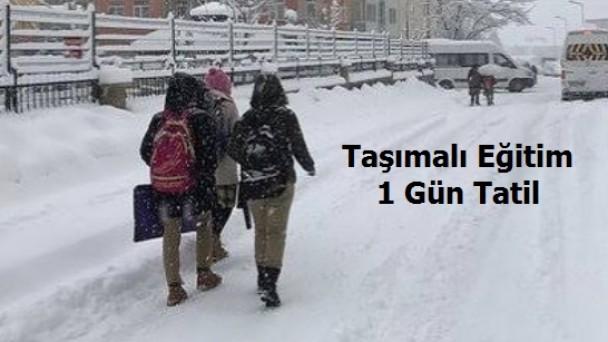 Tosya'da taşımalı eğitime 1 gün ara