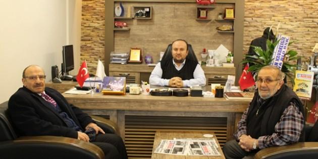 Vergi Dairesi Müdüründen Gazetemize Veda Ziyareti