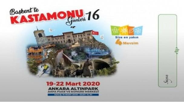 Başkentte Kastamonu Günleri 19 Mart'ta