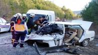 Kastamonu'da ticari minibüsle otomobil çarpıştı: 1 ölü, 6 yaralı