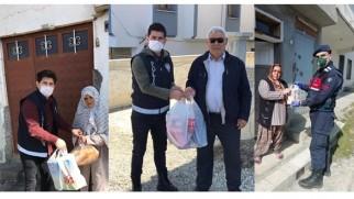 Tosya'da güvenlik güçlerinden vatandaşa evde hizmet
