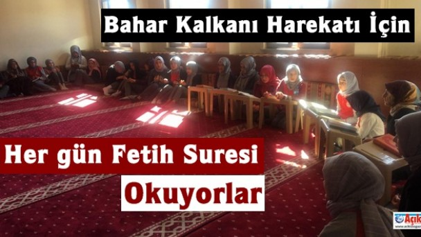 Tosya'da her gün Bahar Kalkanı Harekatı için Fetih Suresi okunuyor