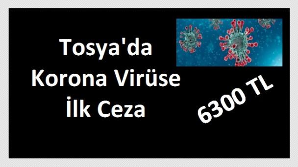 Tosya'da sokağa çıkan yaşlılara 6300TL ceza kesildi