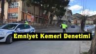 Tosya'da trafik ekiplerinden okul servisleri ve emniyet kemeri denetimi
