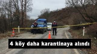 Tosya'da 4 köy daha karantinaya alındı