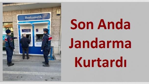 Yaşlı Adamı Telefon Dolandırıcılarından Jandarma Kurtardı