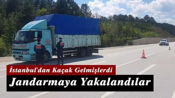 İstanbul'dan kaçak gelen iki kişi Kastamonu'da yakalandı