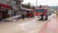 Belediye Ekipleri Cadde ve Sokakları Yıkadı