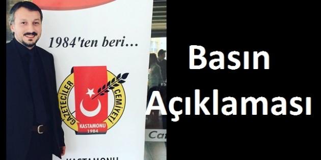 Kastamonu Gazeteciler Cemiyeti' Basın Açıklaması