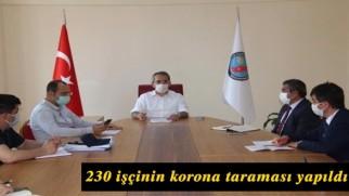 """Kaymakam Deniz Pişkin: """"230 işçinin korona taraması yapıldı"""""""