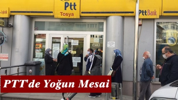 Tosya PTT'de yoğun mesai