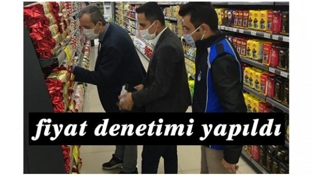 Tosya'da marketlerde fiyat denetimi yapıldı